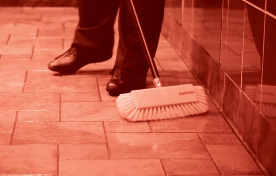 Scrubing Floors