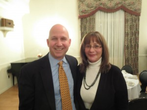 Delaware Governor Jack Markell and Janet Killian at a Committee of 100 meeting.